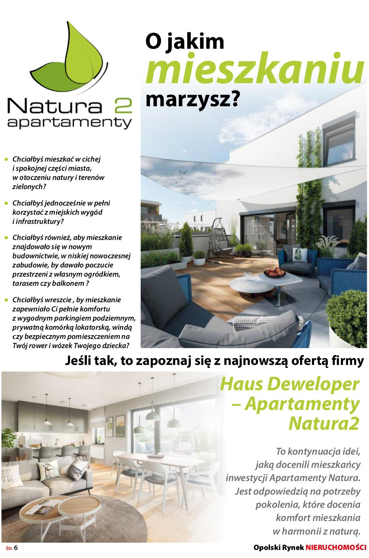 Opolski Rynek Nieruchomości 05.2019 - artykuł strona 1 - Apartamenty Natura 2