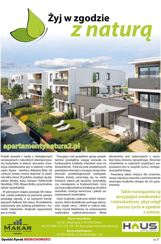 Opolski Rynek Nieruchomości 05.2019 - artykuł strona 2 - Apartamenty Natura 2