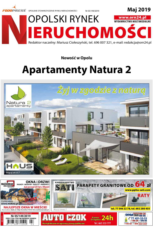 Opolski Rynek Nieruchomości 05.2019 - okładka - Apartamenty Natura 2