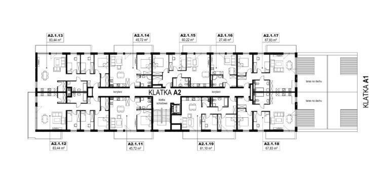 Apartamenty Natura 2 - budynek A2 - piętro 1