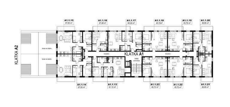 Apartamenty Natura 2 - budynek A1 - piętro 1