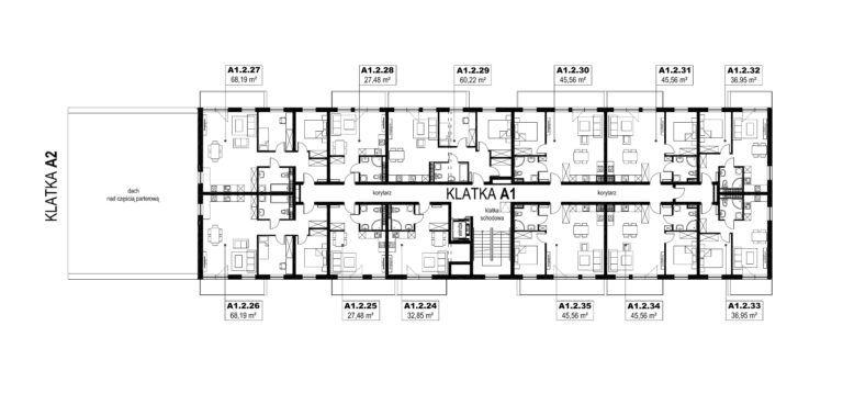 Apartamenty Natura 2 - budynek A1 - piętro 2