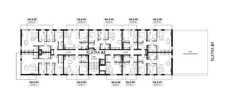Apartamenty Natura 2 - budynek A2 - piętro 2