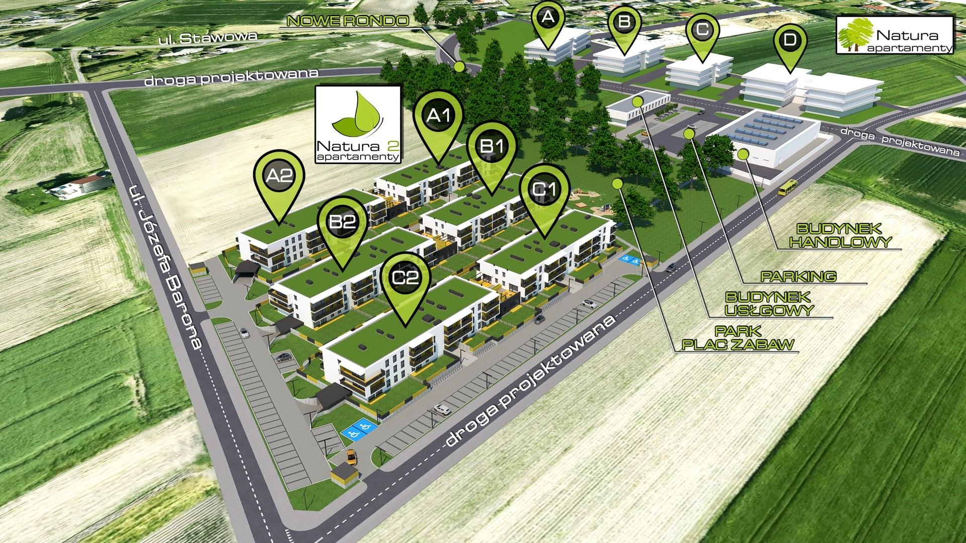 Apartamenty Natura 2 - wizualizacja osiedla