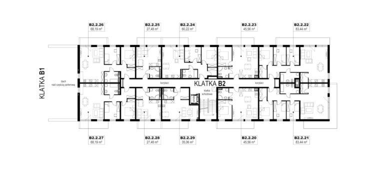 Apartamenty Natura 2 - budynek B2 - piętro 2