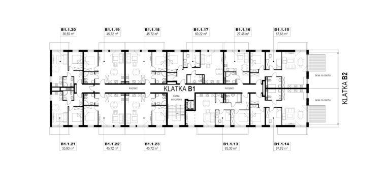 Apartamenty Natura 2 - budynek B1 - piętro 1