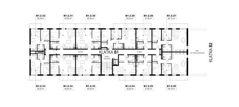 Apartamenty Natura 2 - budynek B1 - piętro 2