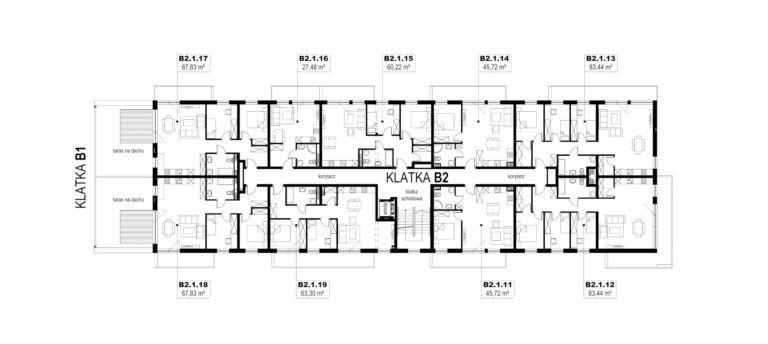 Apartamenty Natura 2 - budynek B2 - piętro 1
